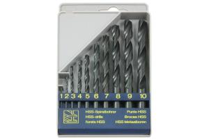 Sada vrtáků 10 dílná 1,00-10,00x1,0mm RNHSS pasivovaná, plastový box (SV1121RNHSS-10P)