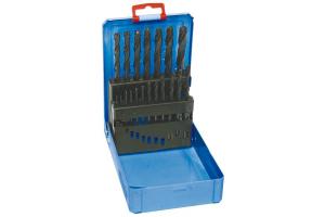 Sada vrtáků 19 dílná 1,00-10,00x0,5mm RNHSS pasivovaná kovový box (SV1121RNHSS-19K)