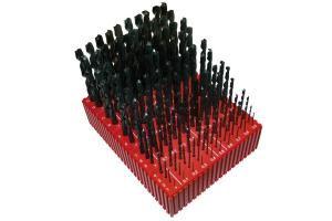 Sada vrtáků 130 dílná MODUL 1,00-13,90x0,1mm, RNHSS pasivovaná, stojánek (SV1121RNHSS-130P)