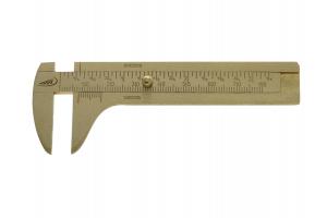 Posuvné měřítko 100mm, tvrdá mosaz, 100x25mm (0180320)