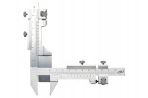 Posuvné měřítko na ozubená kola M1-26, 0,02mm, nerezová ocel, kalené čelisti (0268201)