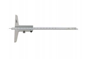Hloubkoměr univerzální oboustranný 150mm, chromovaný posuv + stupnice, nerezová ocel, 0,05mm, DIN862 (0281501)