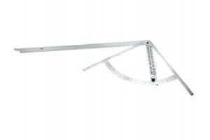 Úhelník s nastavitelným úhloměrem včetně otvoru na značení 430x795mm/35mm (0396290)