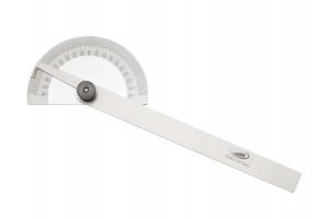 Úhloměr obloukový, průměr 85mm, délka ramena 150mm, aretační šroub (0413301)