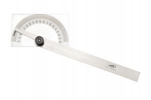 Úhloměr na pravoúhlé desce 85x50mm, délka ramena 150mm, aretační šroub (0413302)