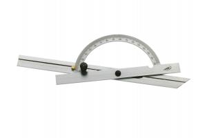 Úhloměr s pravítkem 150mm, aretace šroubkem, 10-170° (0415301)