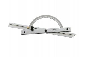 Úhloměr s pravítkem 150mm, s dvojitou zarážkou, aretace šroubkem, 10-170° (0416301)
