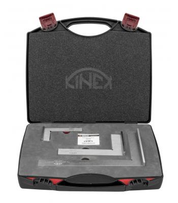 Sada zámečnických příložných úhelníků KINEX v kufru (4020, 4021, 4022)