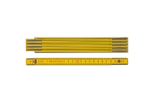 STABILA 01104 - Metr skládací 2m dřevěný, barva žlutá, Serie 600, Typ 607