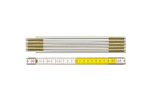 STABILA 01128 - Metr skládací 2m dřevěný, barva žluto-bílá, Serie 600, Typ 617