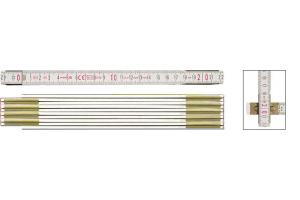 STABILA 01134 - Metr skládací 2m dřevěný, barva bílá, Serie 600, Typ 1607