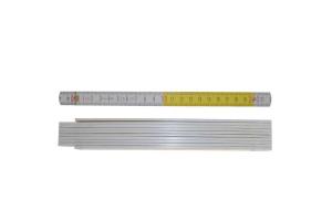 STABILA 01328 - Metr skládací 2m dřevěný, barva žluto-bílá, Serie 700, Typ 717