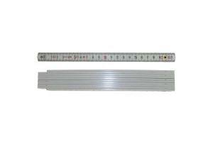 STABILA 01701 - Metr skládací 2m plastový, barva bílá, Serie 1100, Typ 1007