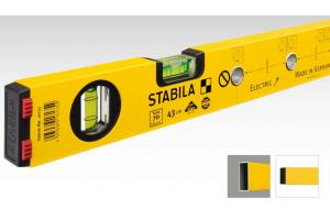 STABILA 16135 - Vodováha 43cm pro elektrikáře, značkovací otvory na krabice, typ 70MAS