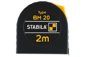 STABILA 16444 - Metr svinovací 2m, bílá ocelová páska, Typ BM 20