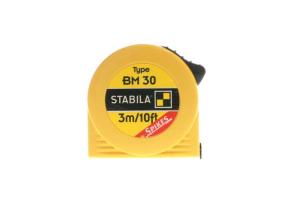 STABILA 16453 - Metr svinovací 3m/10ft, žlutá ocelová páska, Typ BM 30