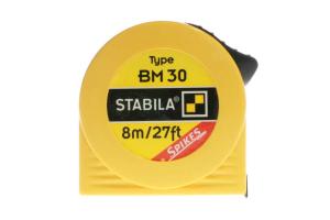 STABILA 16455 - Metr svinovací 8m/27ft, žlutá ocelová páska, Typ BM 30