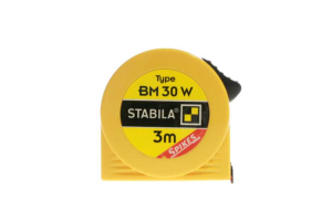 STABILA 16456 - Metr svinovací 3m s odčítacím okénkem, žlutá ocelová páska, Typ BM 30 W