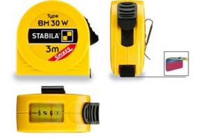 STABILA 16457 - Metr svinovací 3m/10ft s odčítacím okénkem, žlutá ocelová páska, Typ BM 30 W