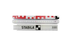 STABILA 17927 - Metr skládací 2m dřevěný, nivelační, Serie 400 typ 1407 GEO červeno - bílý